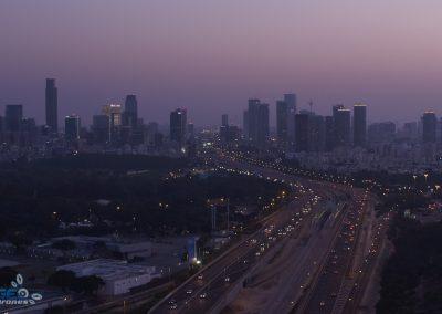 Tel Aviv at dusk