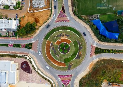 Roundabout in Even Yehuda
